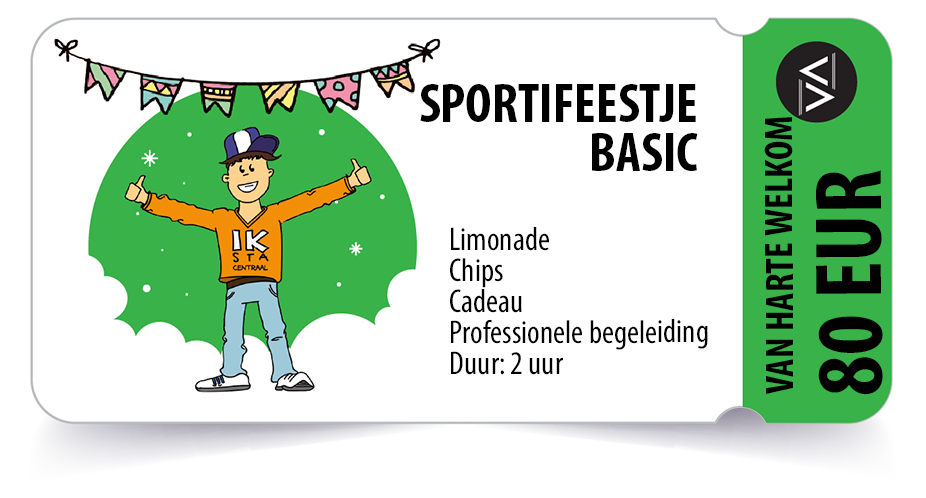 Sportivate-Sportifeestje-ticket-Basic